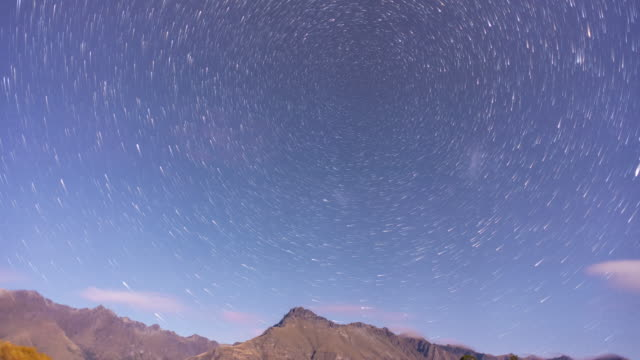 star trail time lapse at cascade creek, new zealand - queenstown stock videos & royalty-free footage