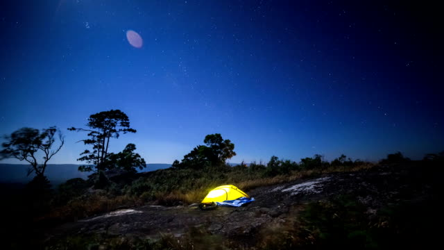 star trail - tent stock videos and b-roll footage