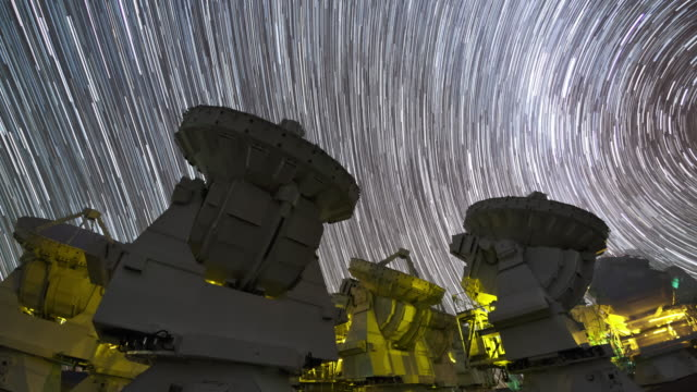 star trails and alma telescopes - wave pattern stock videos & royalty-free footage