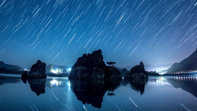 Star Trails nearby Dodamsambong and Gazebo at Namhangang river