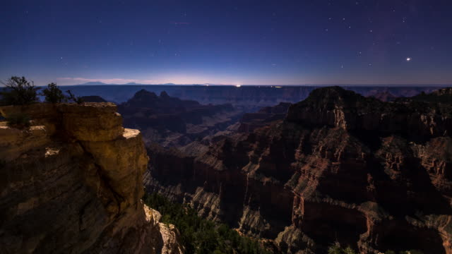 Star Trails Over the Grand Canyon - Time Lapse