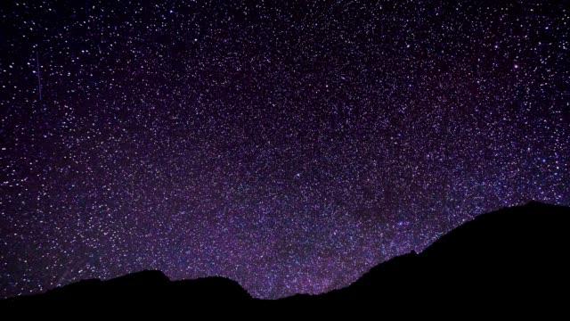 夜のスター トレイル時間経過 - 北極星点の映像素材/bロール
