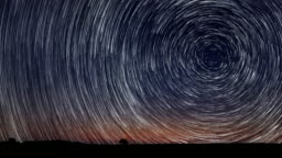 Star Trails Time-lapse Stunning Cosmos Beautiful night sky