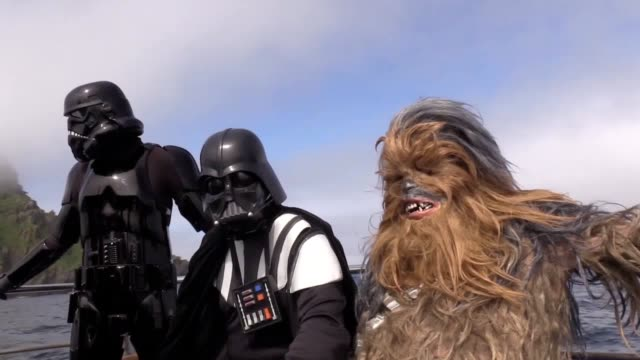 star wars fans flocked to the first ever may the fourth festival in ireland dressed as darth vader a stormtrooper and chewbacca they travelled to a... - star wars stock videos & royalty-free footage