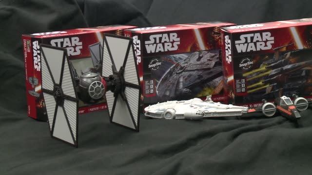 wgn star wars model toys from snaptite kit on september 3 2015 - model kit stock videos and b-roll footage