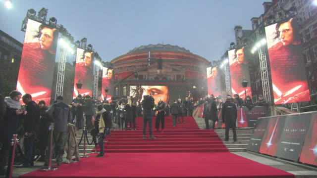 star wars: the last jedi' european premiere at royal albert hall on december 12, 2017 in london, england. - royal albert hall stock videos & royalty-free footage