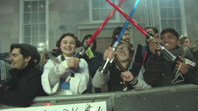 ATMOSPHERE 'Star Wars The Last Jedi' European Premiere at Royal Albert Hall on December 12 2017 in London England