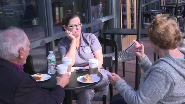 starbucks opens its first us sign language cafe in washington dc - deafness stock videos & royalty-free footage