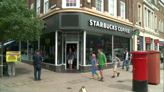 starbucks refuse customer use of disabled toilet; england: surrey: richmond: int set-up shots of lucy challis making hot drink for her mother,... - coffee drink stock videos & royalty-free footage