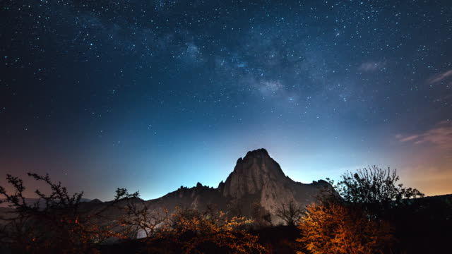 stargazing in mexico - copy space stock videos & royalty-free footage
