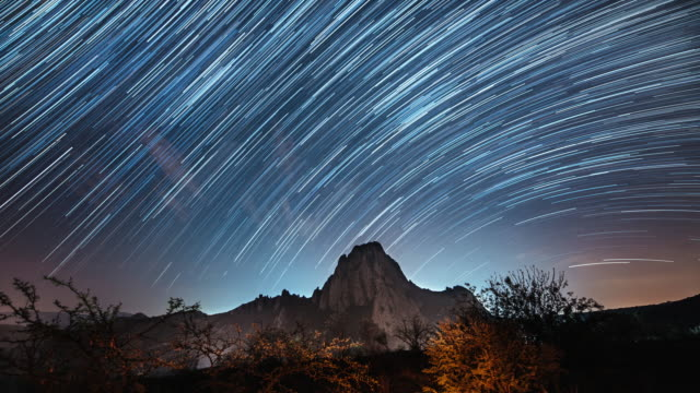 stargazing in mexico - star trail stock videos & royalty-free footage