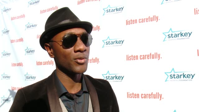 chyron starkey hearing foundation's listen carefully concert with aloe blacc in los angeles ca - event capsule stock videos & royalty-free footage