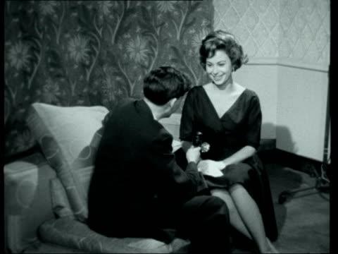 starlet haya harareet interviewed; ***also available as fs141259013** england: london: claridges hotel: int haya harareet interview sof - claridge's stock videos & royalty-free footage