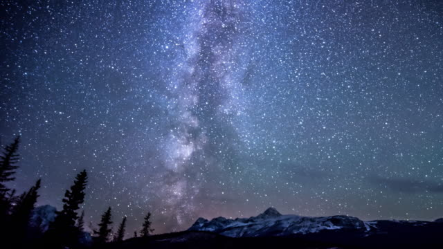 Starlight at Night ,Timelapse