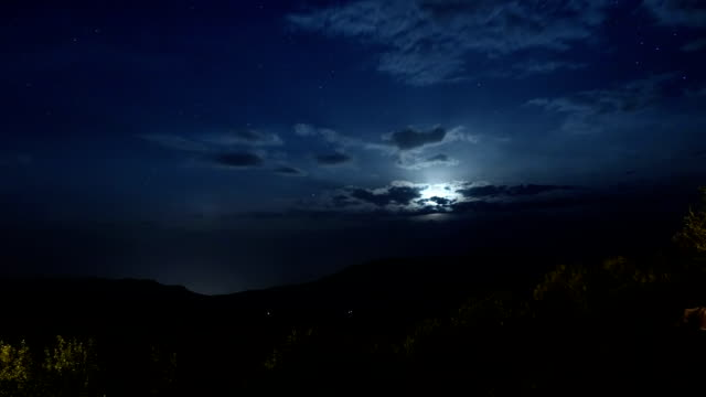 starry night, clouds and the moonset - rx stock videos & royalty-free footage