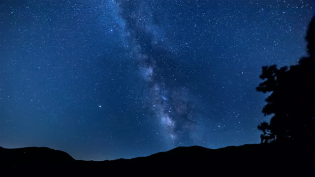 starry night sky over hambaeksan national park - meteor stock videos & royalty-free footage