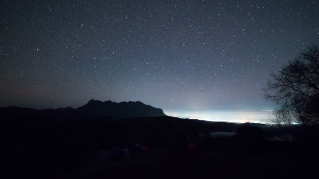 Starry night Time lapse at doi lunag chiang dao