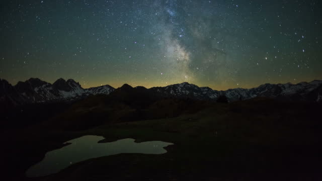 starry night - alps stock videos and b-roll footage