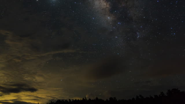 starry sky and milky way galaxy, time-lapse video - fortune telling stock videos & royalty-free footage