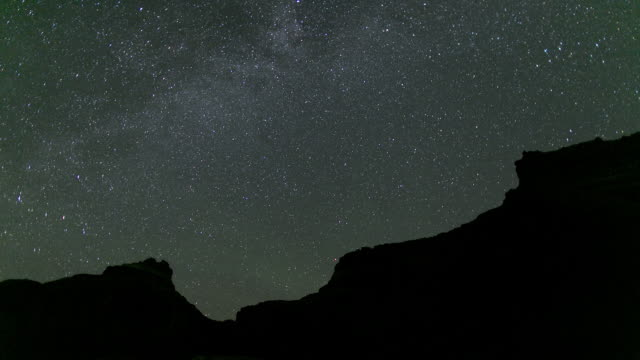 t/l ws starry sky at night / lake powell, utah, usa - lake powell stock videos & royalty-free footage