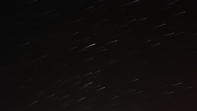 starry sky meteor shower scene 4k - meteor stock videos & royalty-free footage