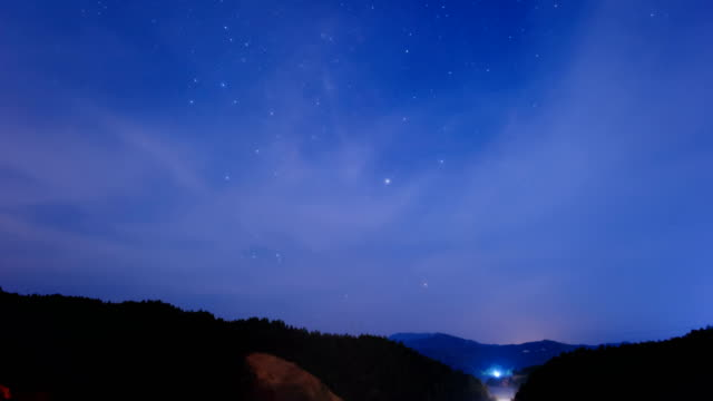 Starry sky over the canyon 4K Time Lapse Video
