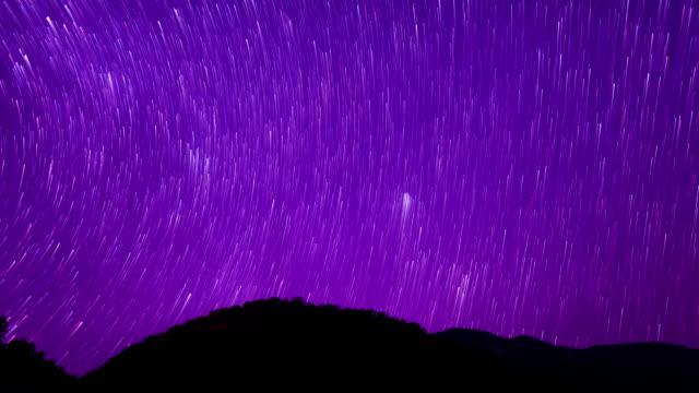 starry sky romantic meteor shower scene 4k - romantic sky stock videos & royalty-free footage
