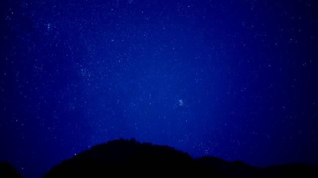 vidéos et rushes de traduction de scène de ciel étoilé 4k dci - ciel étoilé