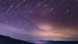 Starry time lapse in Carpathian Mountains