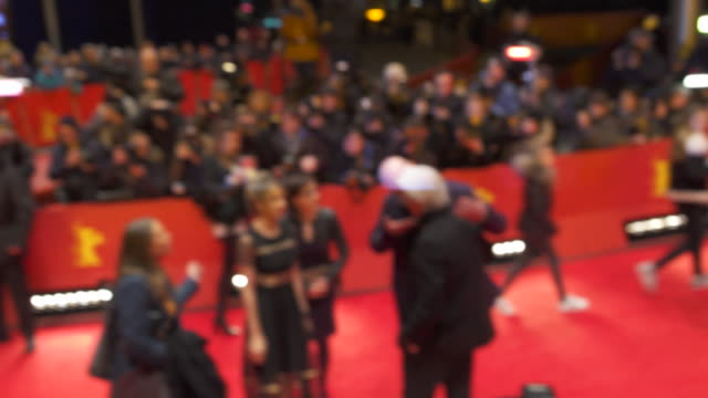 stars and celebs shine during 'the dinner' red carpet at berlinale 2017 - oren moverman stock videos and b-roll footage