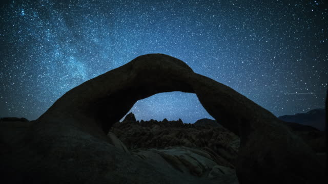 TIME LAPSE: Stars and Milky Way over the Mobius Arch