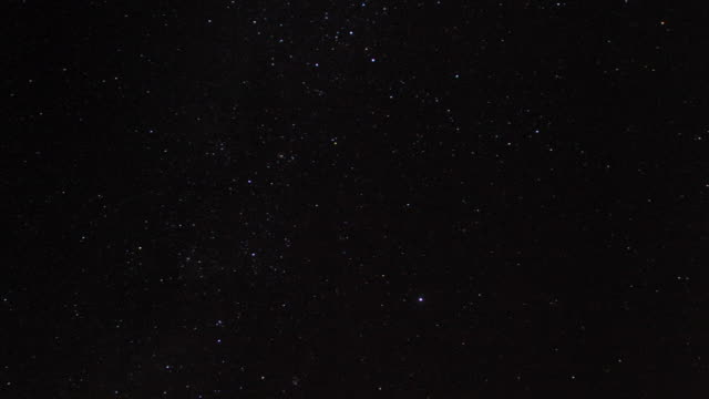 stars and milky way track across night sky, kenya - sternenhimmel stock-videos und b-roll-filmmaterial