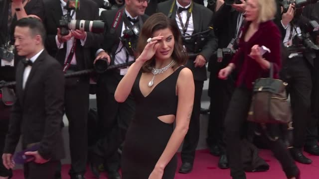 stars and models walk the red carpet for the premiere of the wild pear tree from turkey's nuri bilge ceylan one of the most prodigiously successful... - 71st international cannes film festival stock videos & royalty-free footage