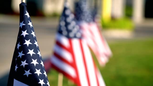 星条旗アメリカ国旗に星に焦点を当てる - 選挙点の映像素材/bロール
