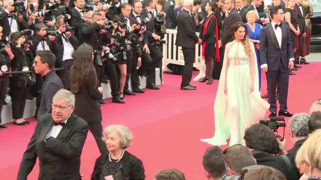 stars arrive on the red carpet ahead of the screening of the film the dead don't die at the opening of the cannes film festival - the dead don't die 2019 film stock videos and b-roll footage