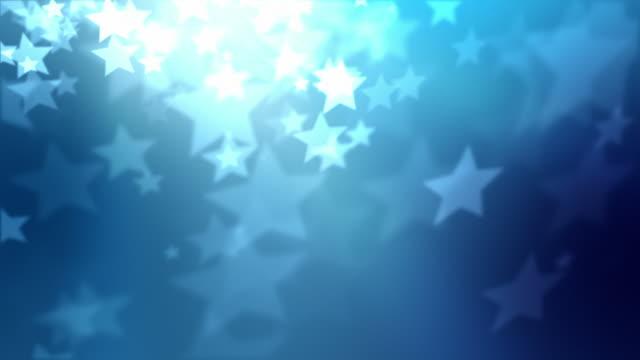 stars background loop - blue (full hd) - light blue stock videos & royalty-free footage