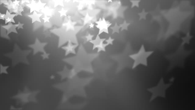 stars background loop - night silver (full hd) - grayscale stock videos and b-roll footage