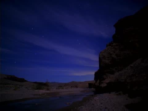 stars crossing the desert sky - artbeats stock videos & royalty-free footage