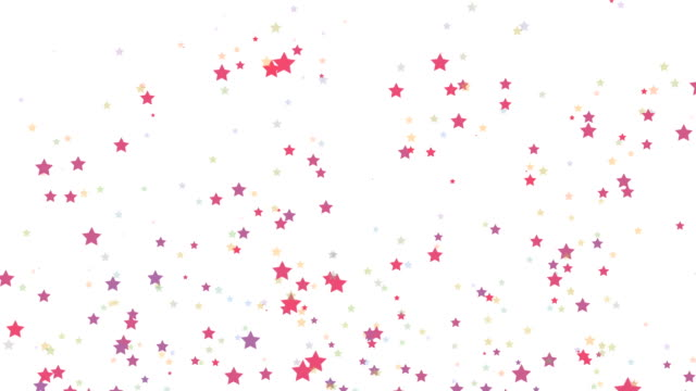 stars falling loopable christmas background - star shape stock videos & royalty-free footage