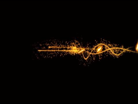 vídeos de stock, filmes e b-roll de estrelas fluxo frente - squiggle