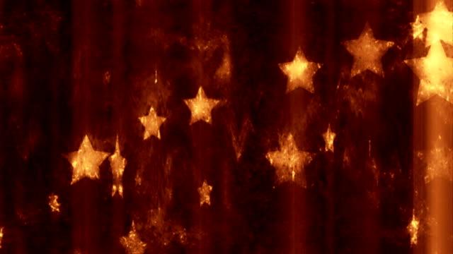stars grunge background loop - blinking star stock videos & royalty-free footage