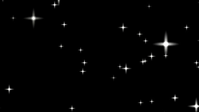 Stars in the sky. Looped animation.