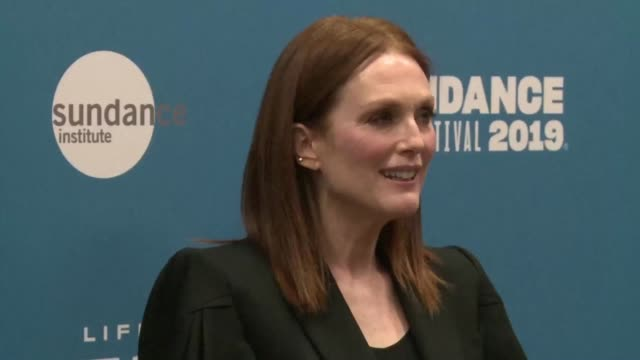 stars julianne moore and michelle williams attend the opening of the 2019 sundance film festival in park city utah marked by the announcement its... - sundance film festival stock videos & royalty-free footage