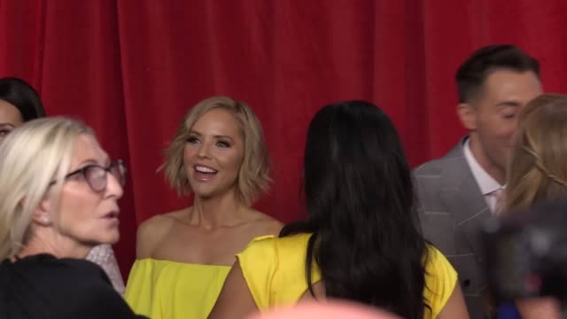 stars of coronation street and hollyoaks hit the red carpet for the 2019 soap awards at mediacity salford interviews with shayne ward trevor michael... - イーストエンダーズ点の映像素材/bロール