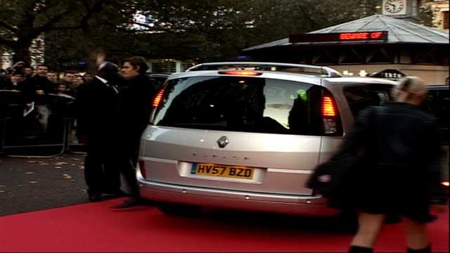 Stars of 'Franklyn' film arrive at premiere Green signing autographs for fans / Sam Riley arriving in car and Riley seen posing for press with Eva...