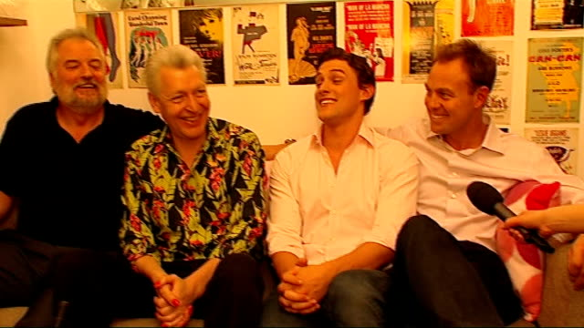 stars of musical 'priscilla queen of the desert' interviewed stars of west end musical 'priscilla queen of the desert' tony sheldon clive carter... - anti impotence tablet stock videos & royalty-free footage