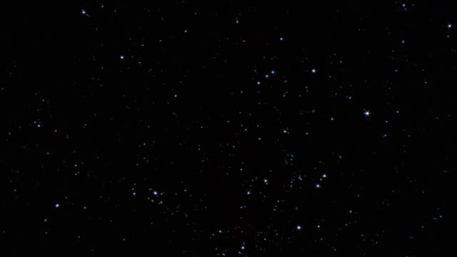 ws, pan stars on sky at night - constellation stock videos & royalty-free footage