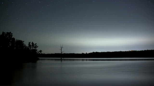 Stars Over a Lake Time Lapse
