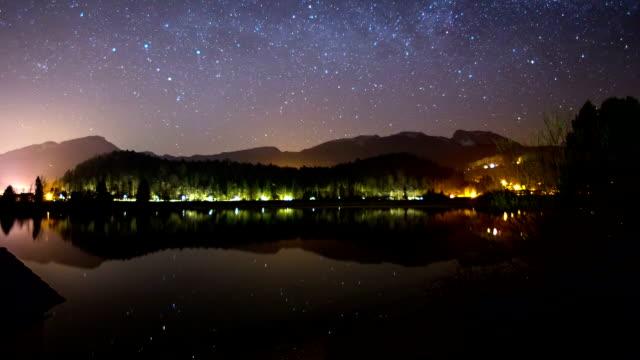 stars over Lake Hallstatt