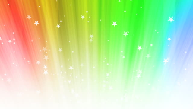 stars rainbow background loop - rainbow stock videos and b-roll footage
